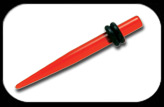 Acrylic Ear Expander Red