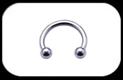 Titanium micro circular barbell 1.2mm High Polish