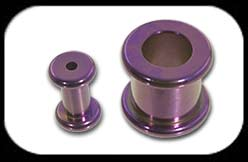 Titanium Round Flesh Tunnel Purple