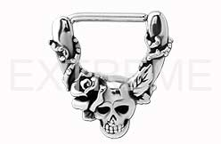Skulls and Rose Nipple Clicker