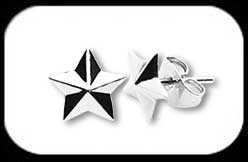 Steel Stud earrings Star